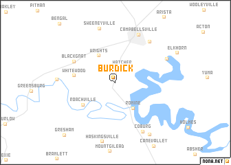 map of Burdick