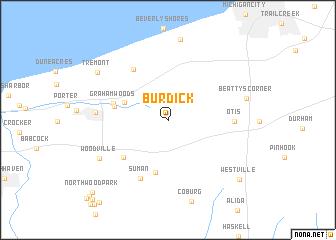 map of Burdick