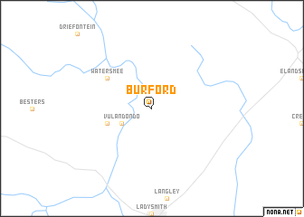 map of Burford