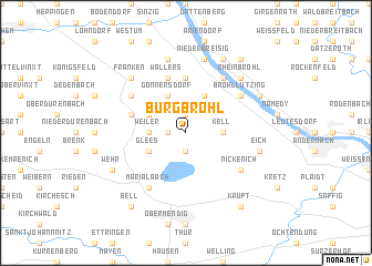 map of Burgbrohl