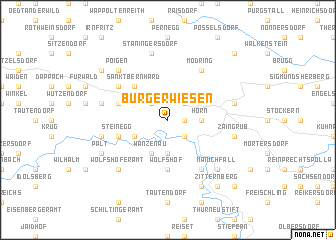map of Burgerwiesen
