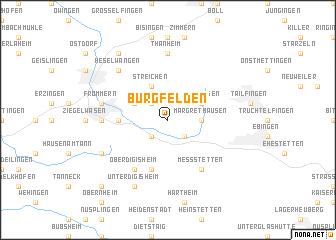 map of Burgfelden