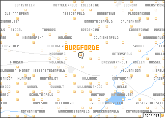 map of Burgforde