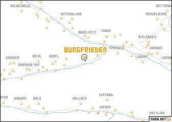 map of Burgfrieden
