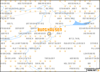 map of Burghausen