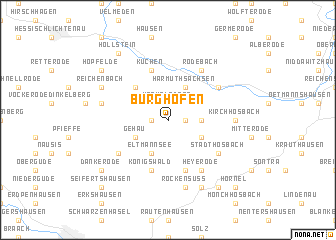map of Burghofen