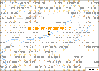 map of Burgkirchen an der Alz