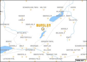 map of Bürglen