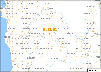 map of Burgos