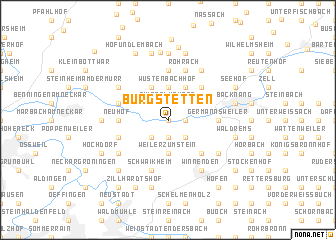 map of Burgstetten