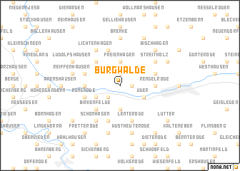 map of Burgwalde
