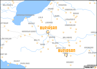 map of Buriasan