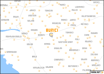 map of Burići