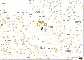 map of Burići