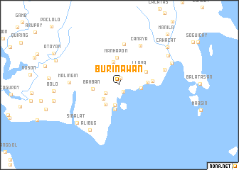 map of Burinawan