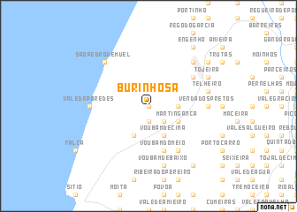 map of Burinhosa