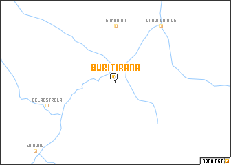 map of Buritirana