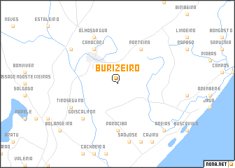map of Burizeiro
