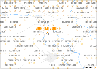 map of Burkersdorf