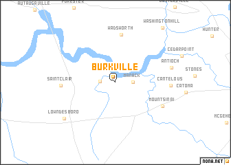 map of Burkville