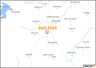 map of Burleson