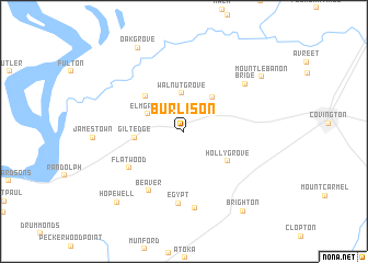 map of Burlison