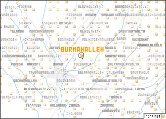 map of Būr Maḩalleh