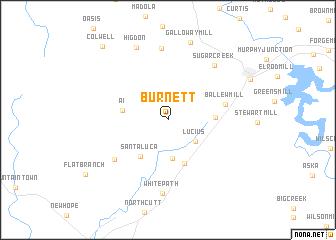 map of Burnett