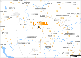 map of Burnwell