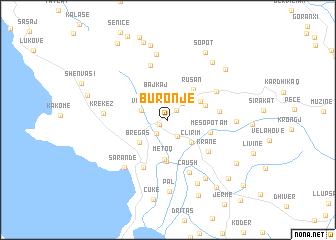 map of Buronjë