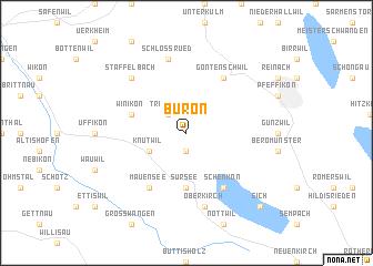 map of Büron