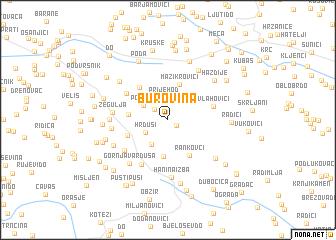 map of Burovina