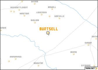 map of Burtsell