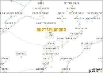 map of Burtseva Gora