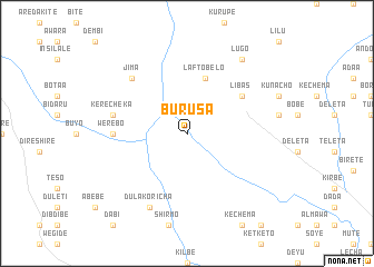 map of Burusa