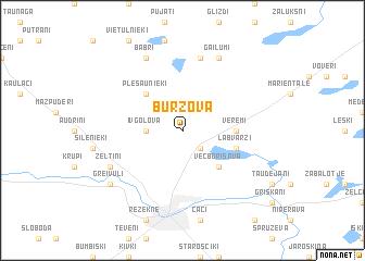 map of Burzova