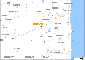 map of Burzubǝnd