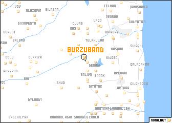 map of Burzubǝnd