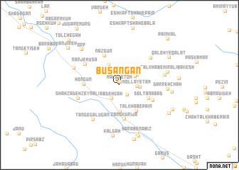 map of Būsangān