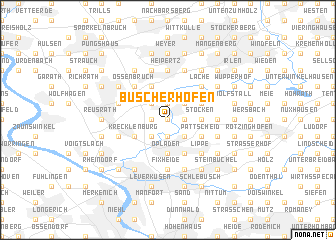 map of Büscherhöfen