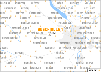 map of Buschwiller