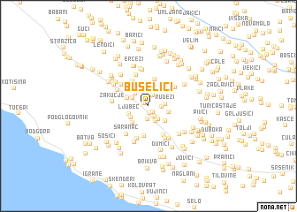 map of Bušelići