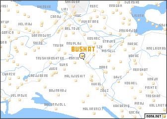 Bushat Albania map nonanet