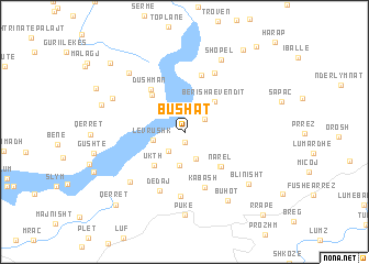 map of Bushat