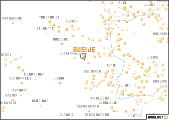 map of Busije