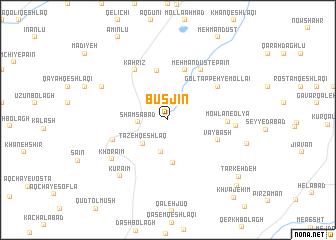 map of Būsjīn
