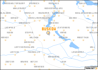map of Buskow