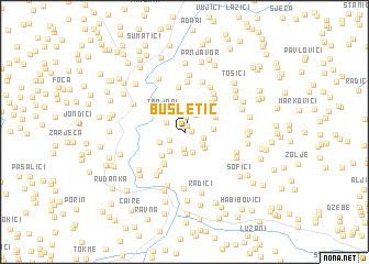 map of Busletić