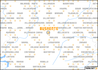 map of Busmente