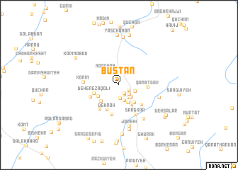 map of Būstān